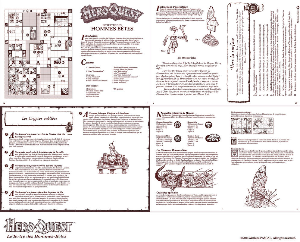 heroquest manual by panperkin on deviantart rh deviantart com heroquest manuel hero quest board game manual pdf