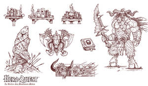 Heroquest illustrations by Panperkin