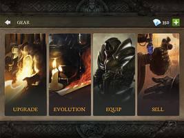 Dungeon Hunter 5 Gear menu by Panperkin