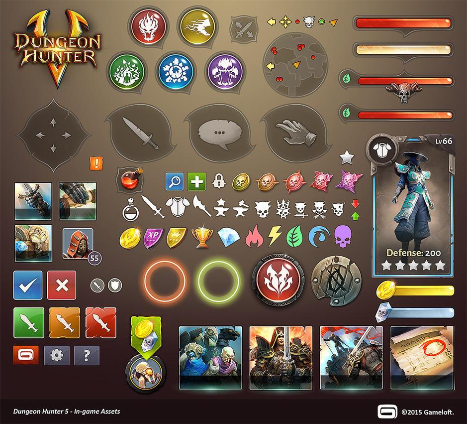 Dungeon Hunter 5 In-game Assets By Panperkin On DeviantArt