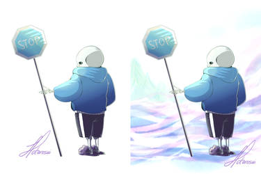 Blue Stop Signs by Hotaro-sui