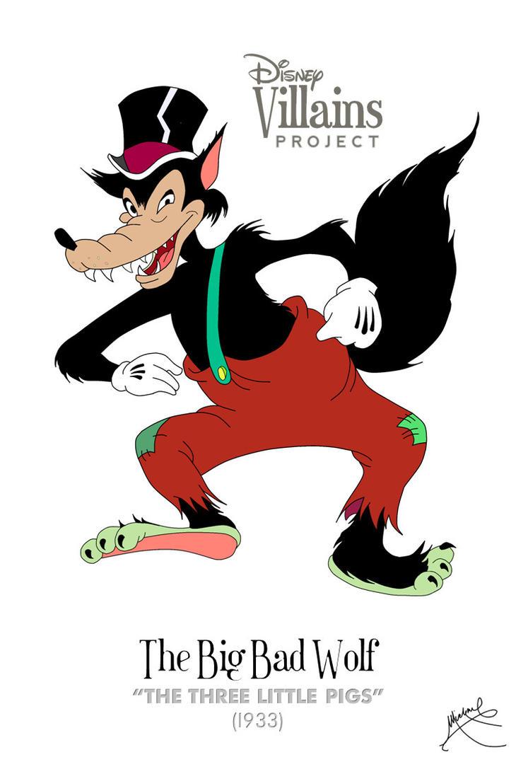 Big bad wolf cartoon