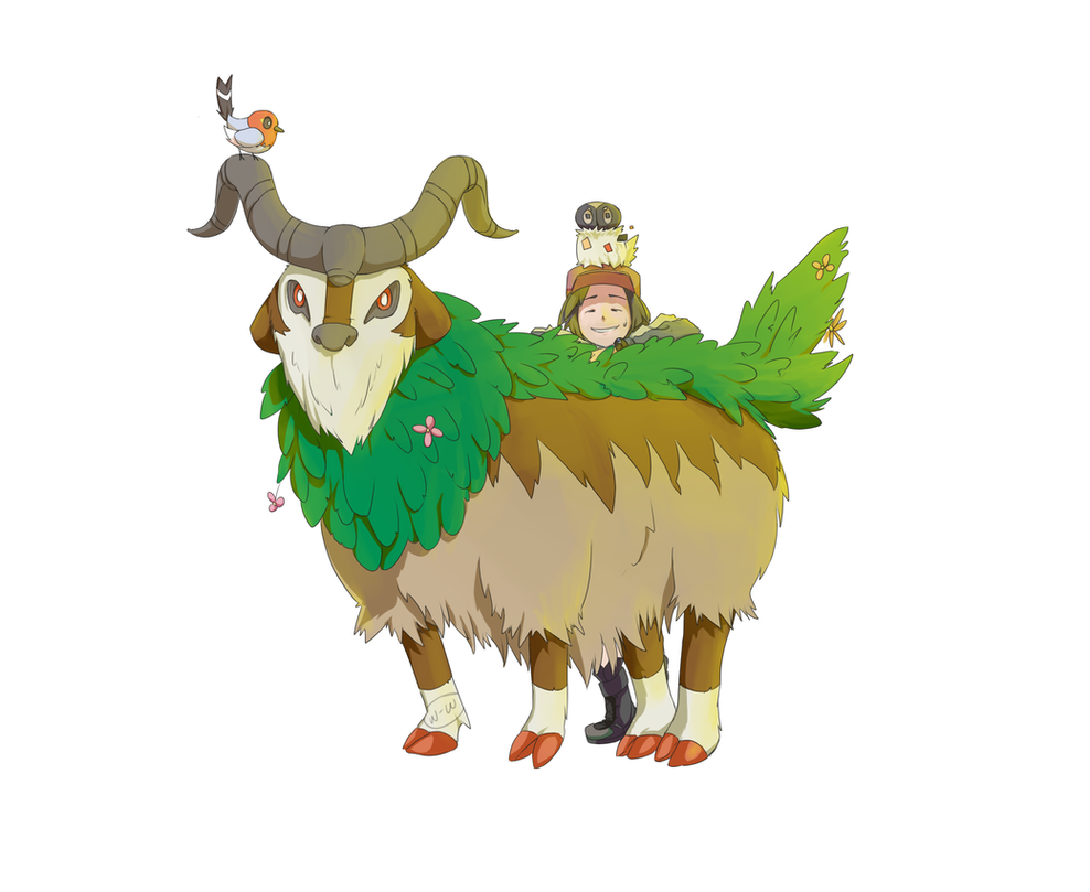Gogoat and Friends: Pokemon XY by Winter-Wisp