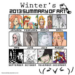 2013 Art Summary by Winter-Wisp