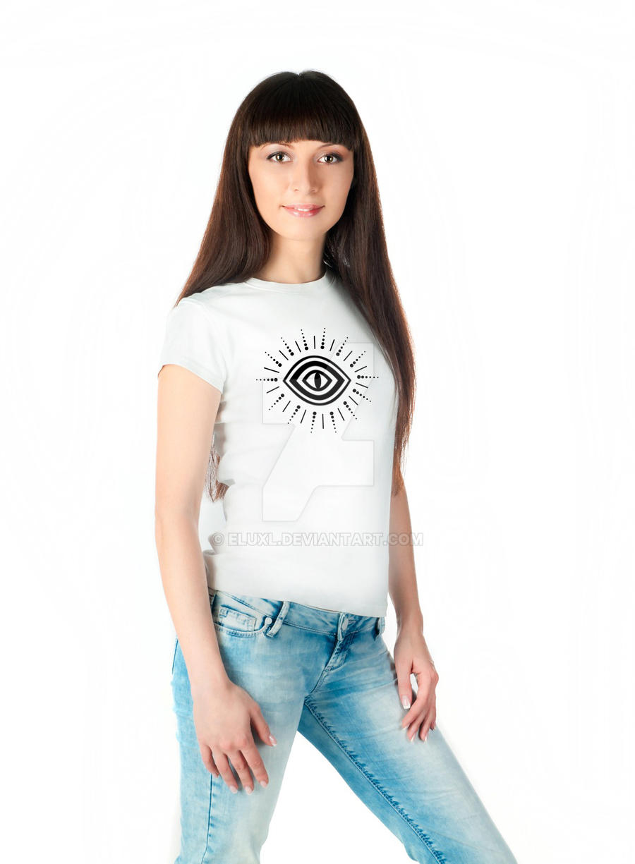 Chakra White Modern and Cool Ladies T-shirt Design by ELUXL on ...