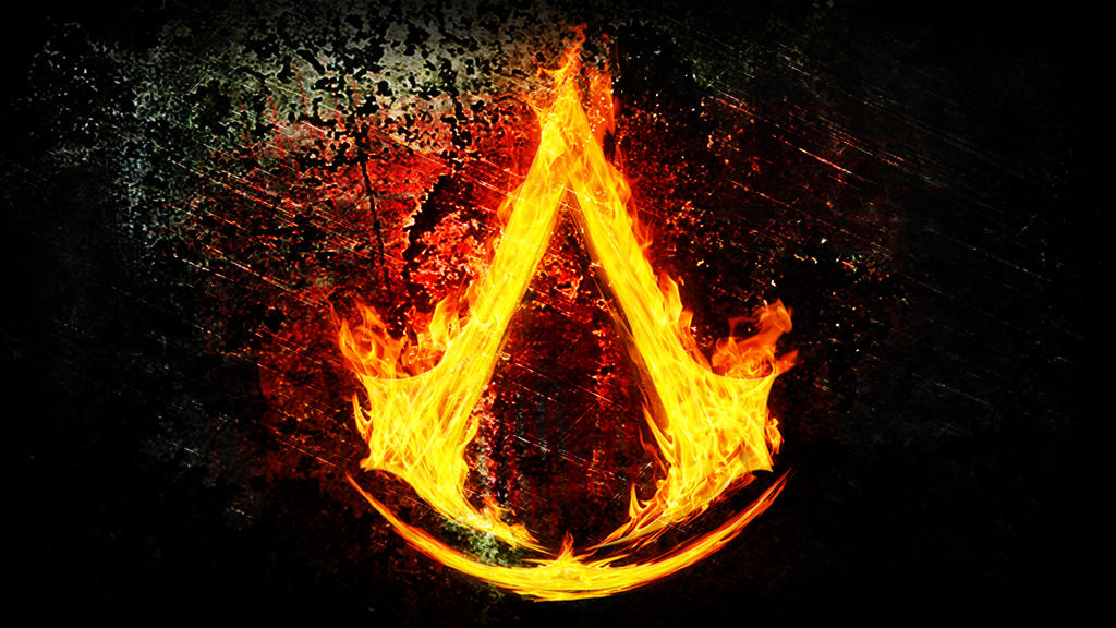 Assassin s Creed...K Logo In Fire