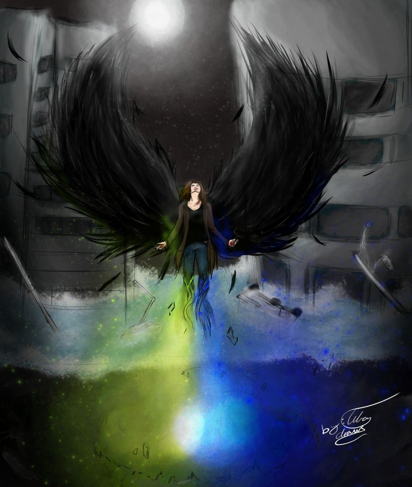 Sleepless Death Angel by tibadraw