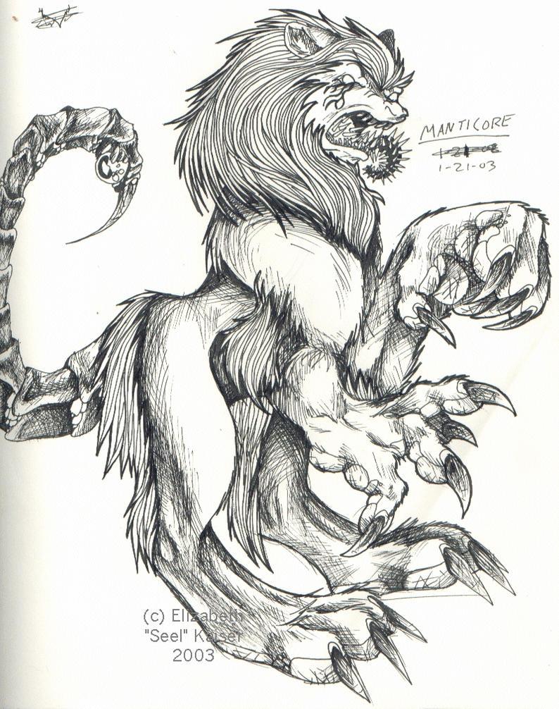 Manticore by Dingo-Scribble