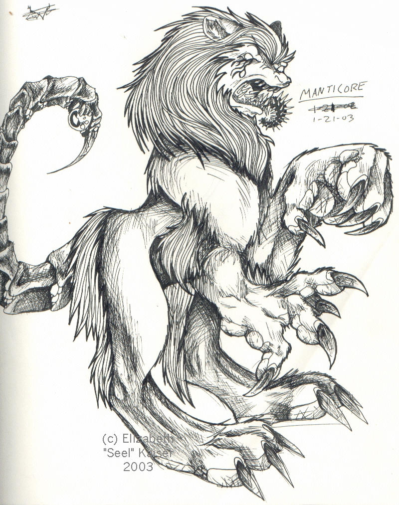 Manticore by Dingo-Scribble