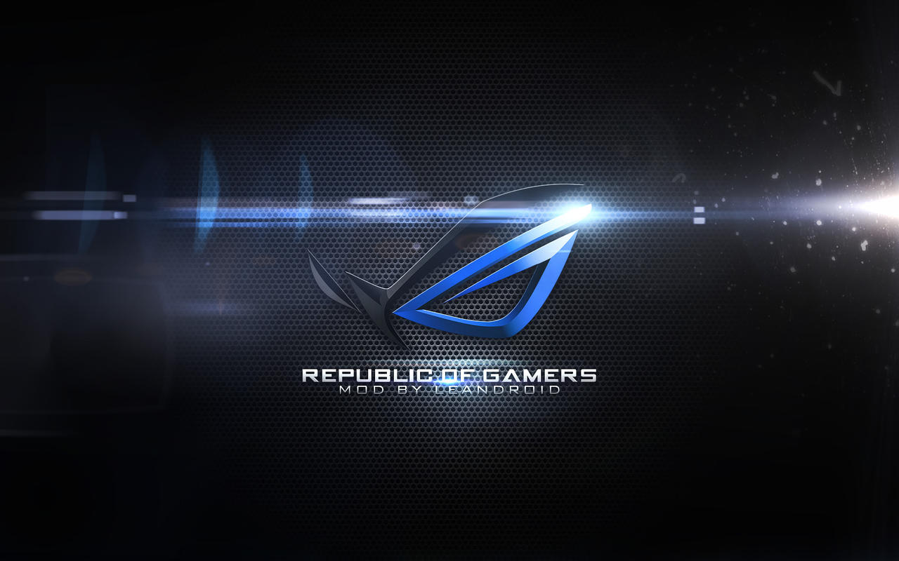 wall asus rogblue flare by xmajestikx on deviantart