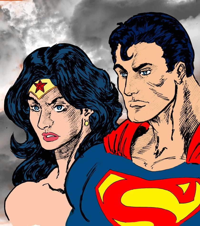 Superman Wonder Woman face by lucio7lopez on DeviantArt