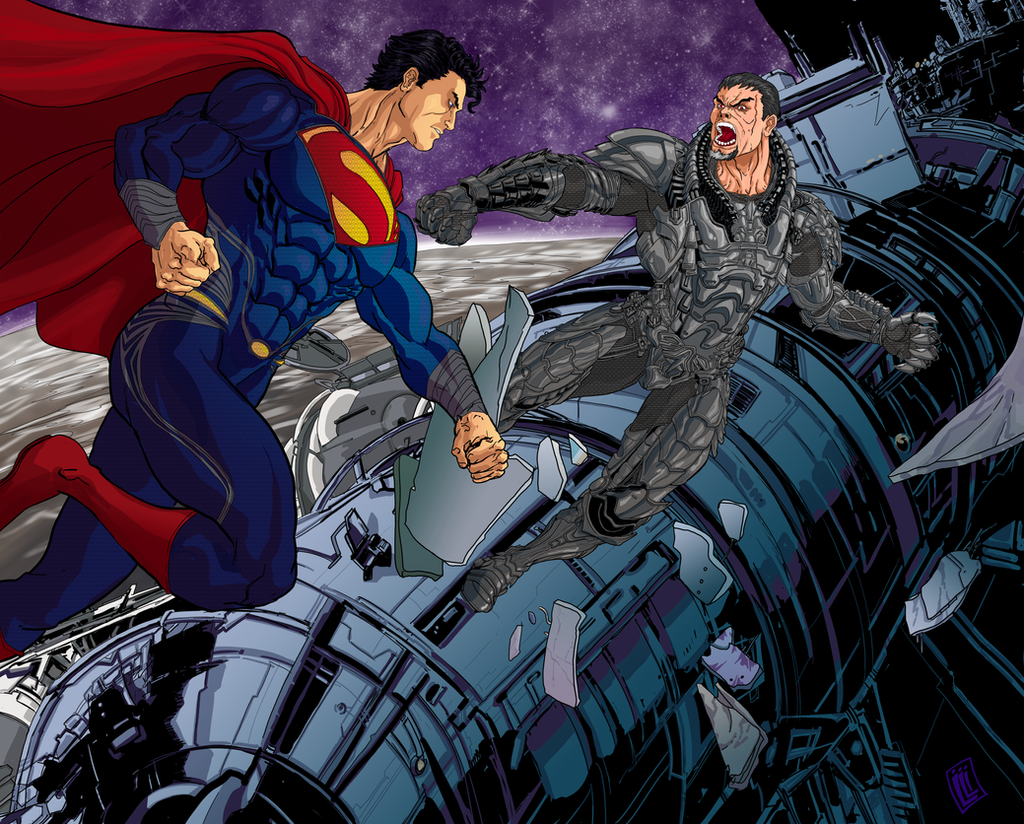 Superman vs Zod by lucio7lopez
