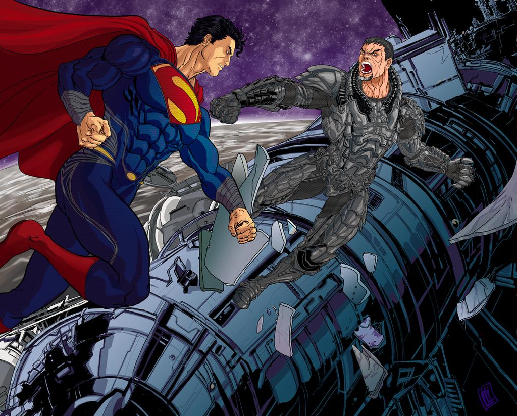 Superman vs Zod by lucio7lopez