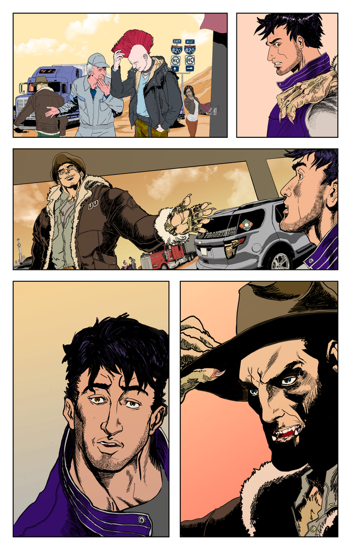 Silver Star Bloody Bullets page 6 color by lucio7lopez