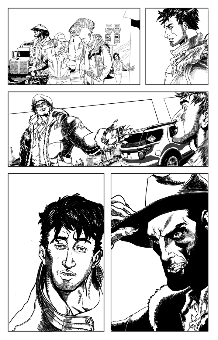 Silver Star Bloody Bullets page 6 ink by lucio7lopez