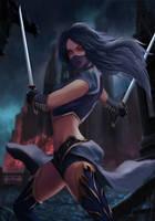 Assassin card illustration by xiiidropdead