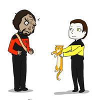 Klingon Cat Daycare service by GloomyLavv