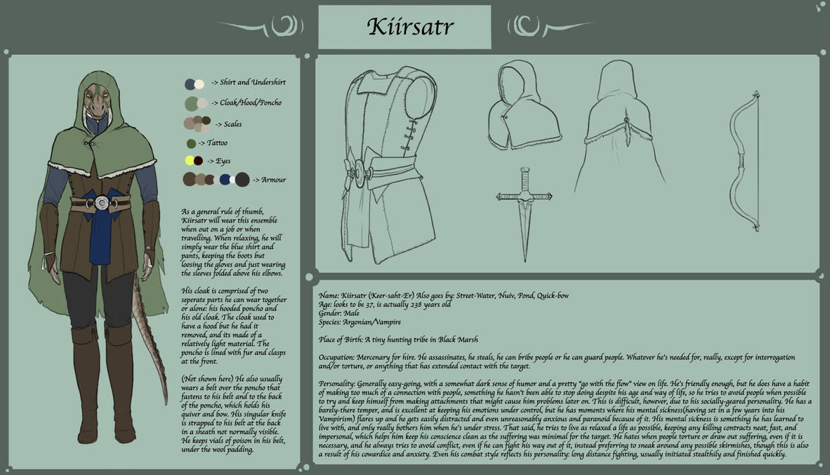 Elder Scrolls - Kiirsatr reference by GloomyLavv