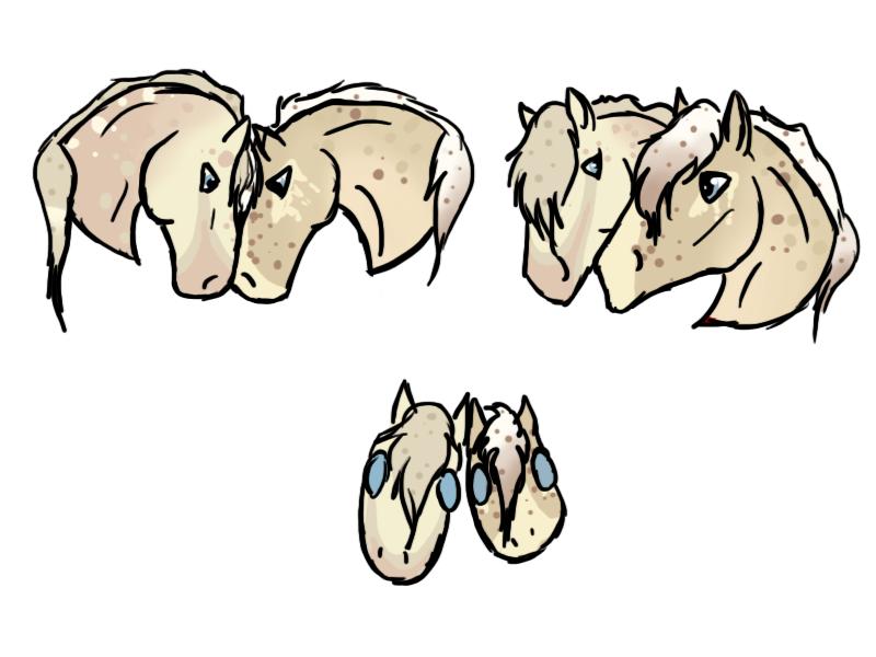 Egg Nog Foals! by Spudalyn