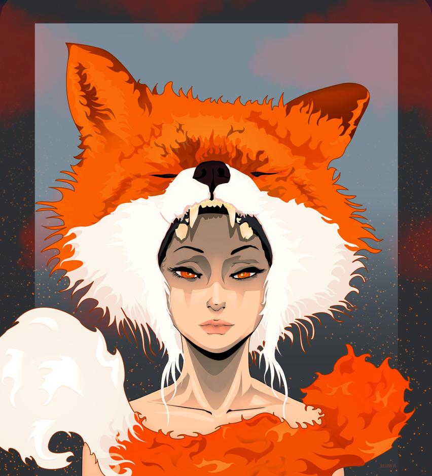 Fox LAdy is on fire by julianx16