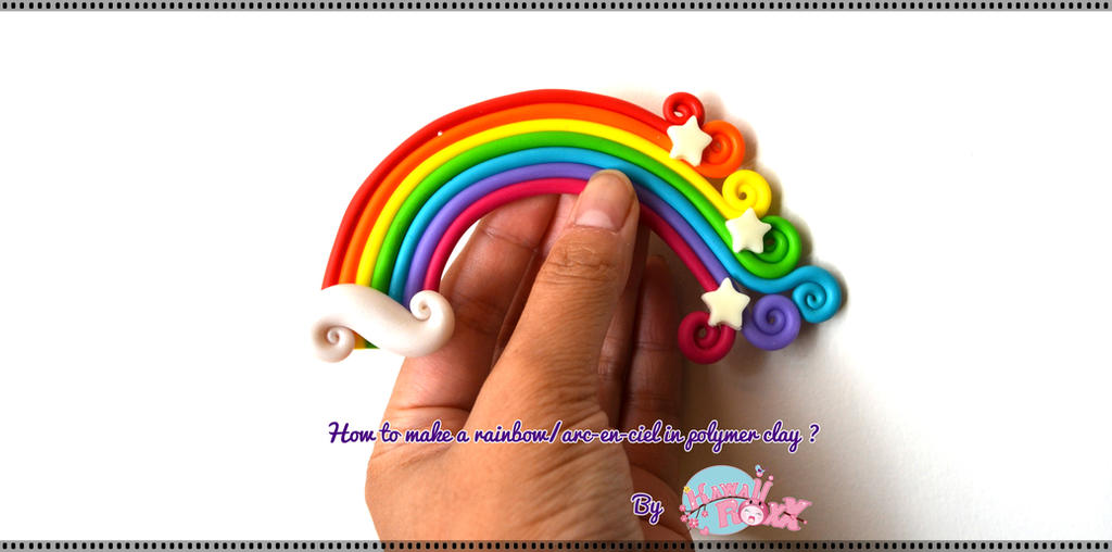 How to make a rainbow/arc-en-ciel in polymer clay? by KawaiiRoxX
