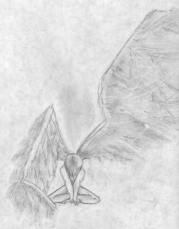 Sad Angel Drawings