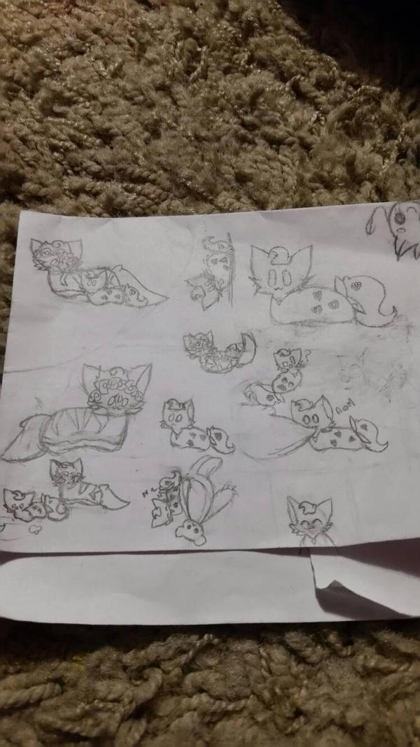 sketches by Gravitycat123