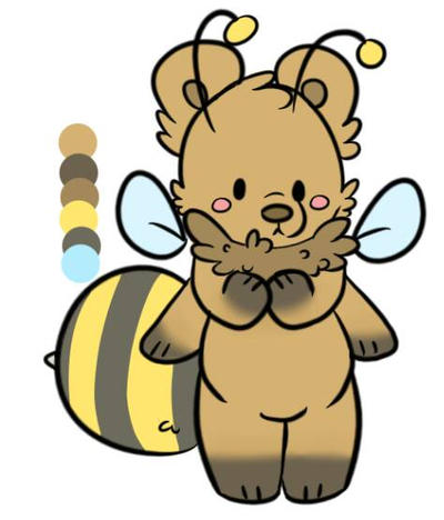 honeybear adoptable by Gravitycat123