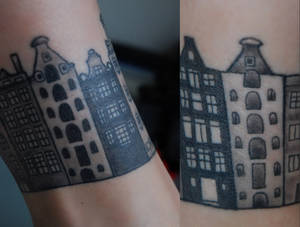 Houses tattoo