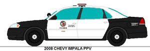 Los Angeles Police 2008 Chevy Impala