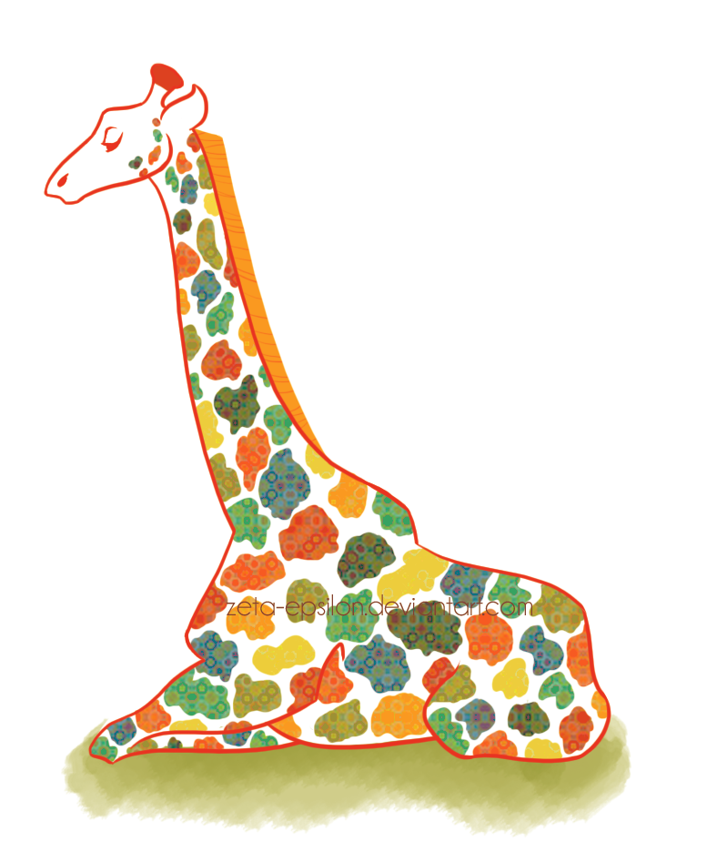 Colorful Giraffe Background
