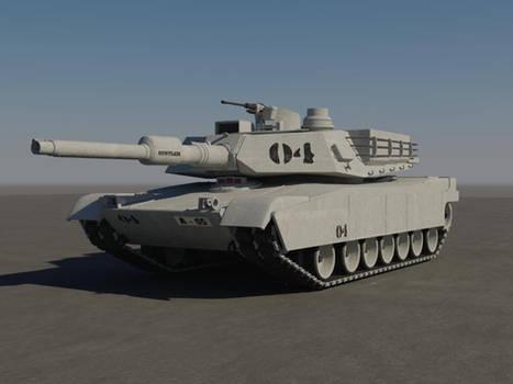 M1A2 Abrams Tank Textured
