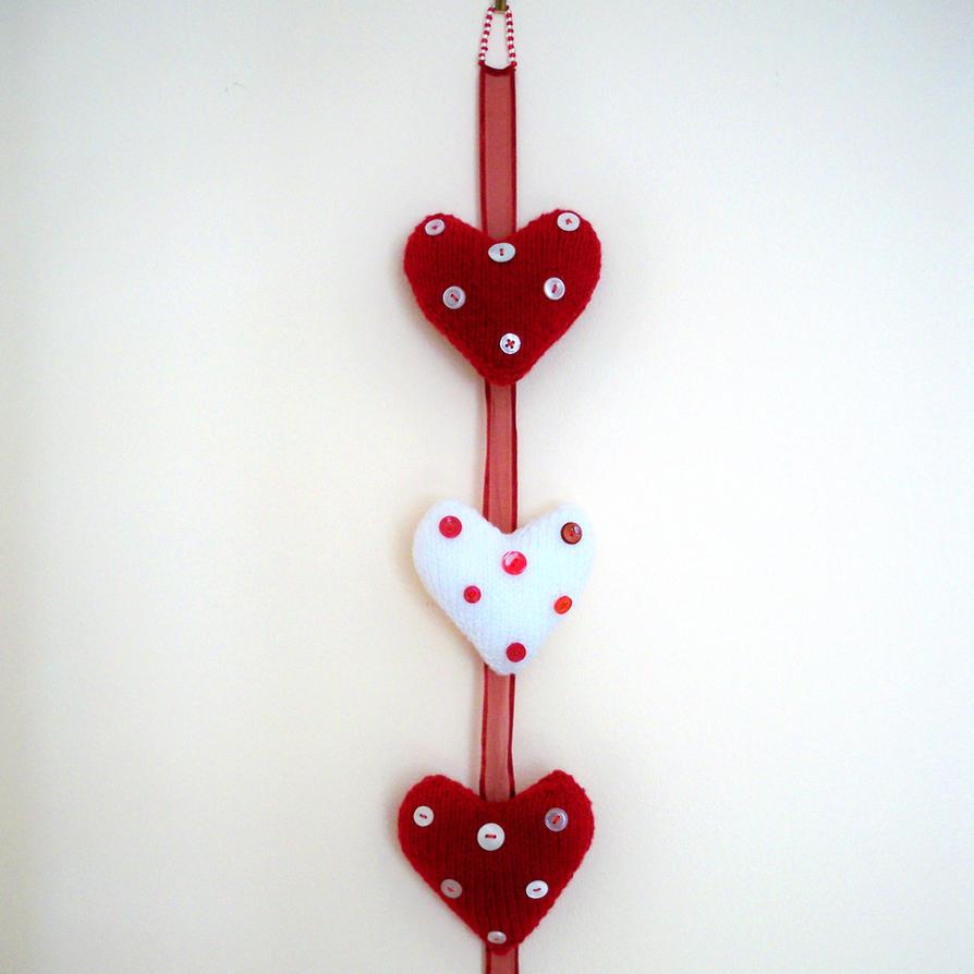 Hanging Heart Wall Decor : Hanging heart wall decoration by rowanknits on deviantart