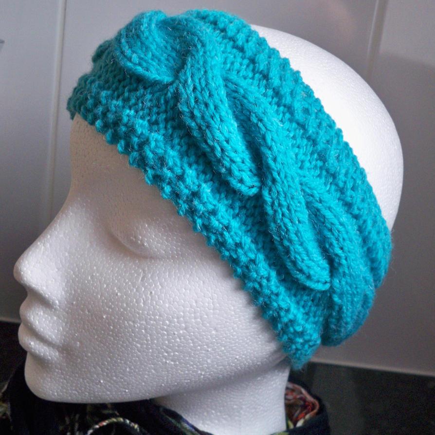 Reddit Knitting Blocking : Hand knitted jade green aran earwarmer or headband by