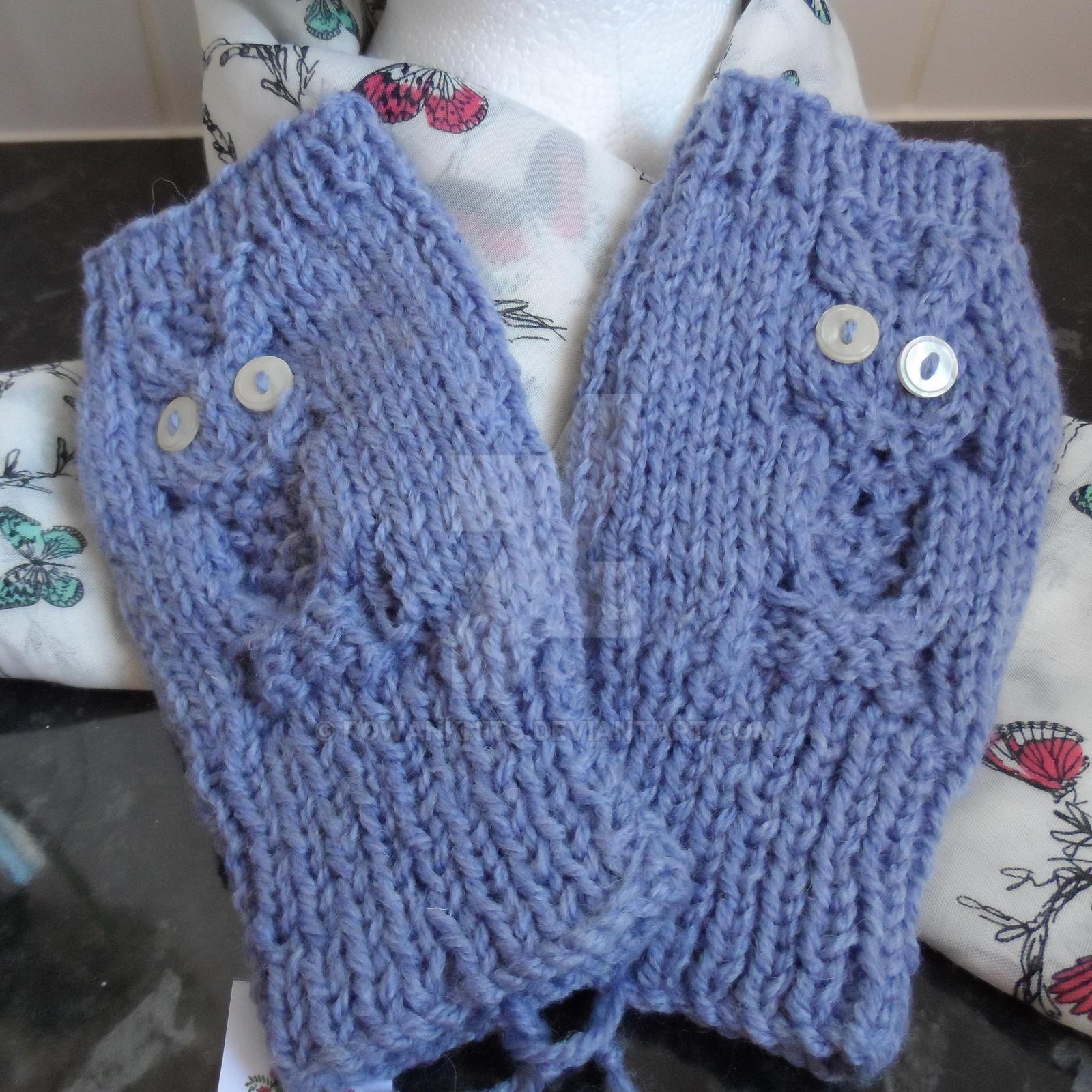 3873419bc Owl by RowanKnits Ladies Fingerless Mitts Gloves. Wrist Warmers. Owl by  RowanKnits