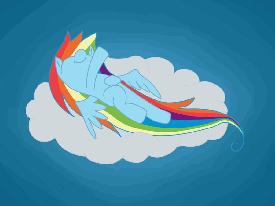 young rainbow dash sleeping on a cloud by gochure on deviantart. Black Bedroom Furniture Sets. Home Design Ideas