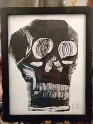 abstract skull printmaking