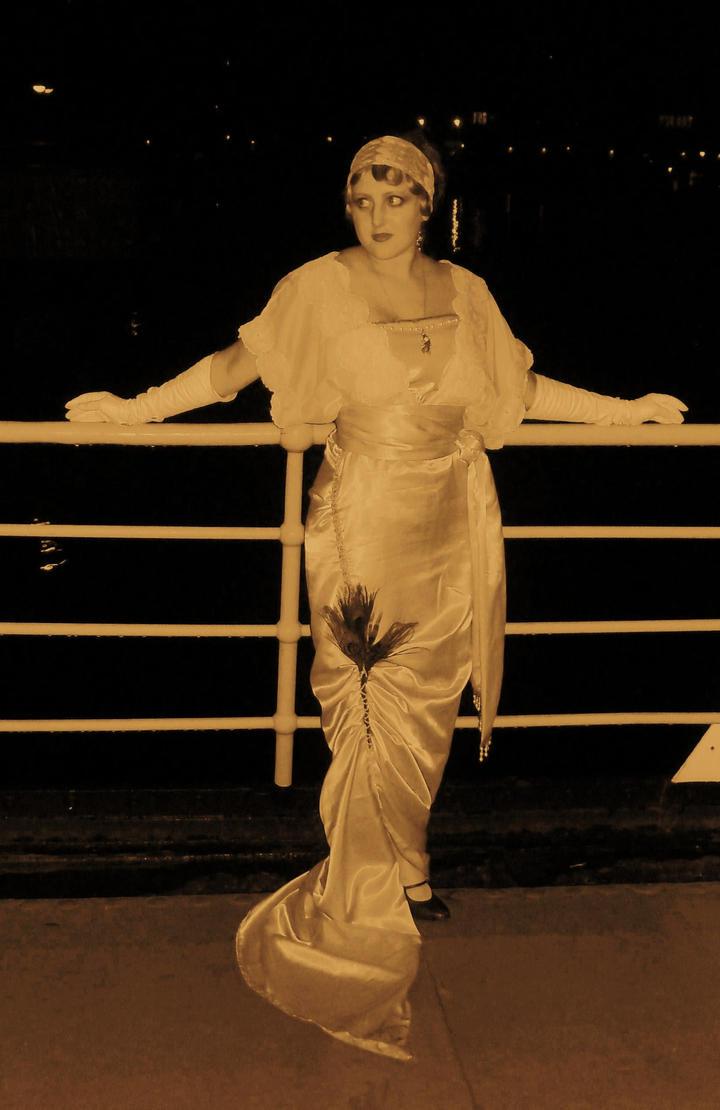 1913's dress by LadyCafElfenlake