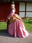 early bustle dress