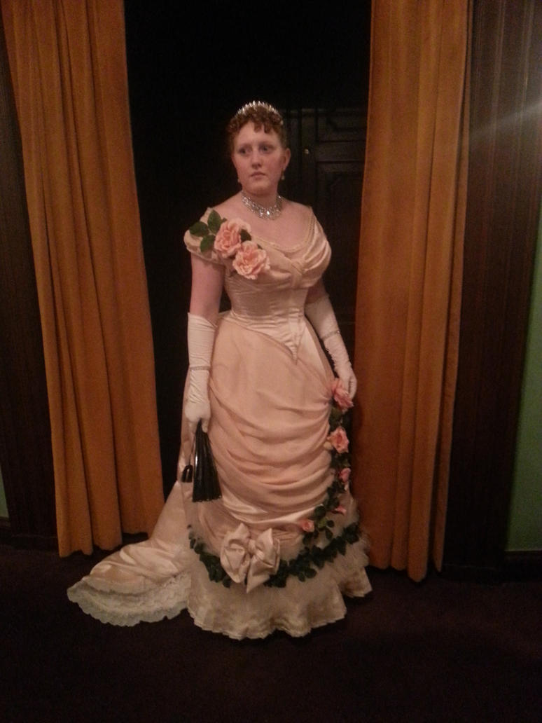 Worth gown 1882 by LadyCafElfenlake