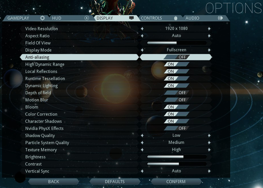 warframe best display settings