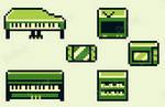 Objects in Pokemon Yellow Style - Pixel Art by Dettimp