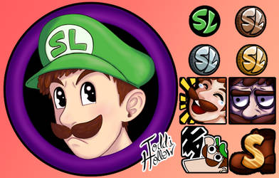 [Commission Work] Twitch Icons and Emotes SL