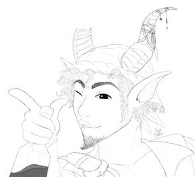 [Commission Work] Tiefling Pirate