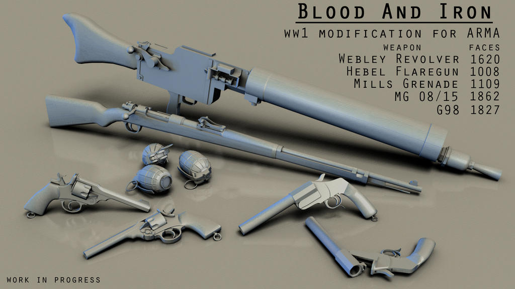 ww1 weapons collection by strayferret