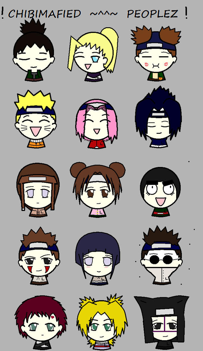 CHIBIMAFIED NARUTO PEOPLEZ by gaaraluver3-0