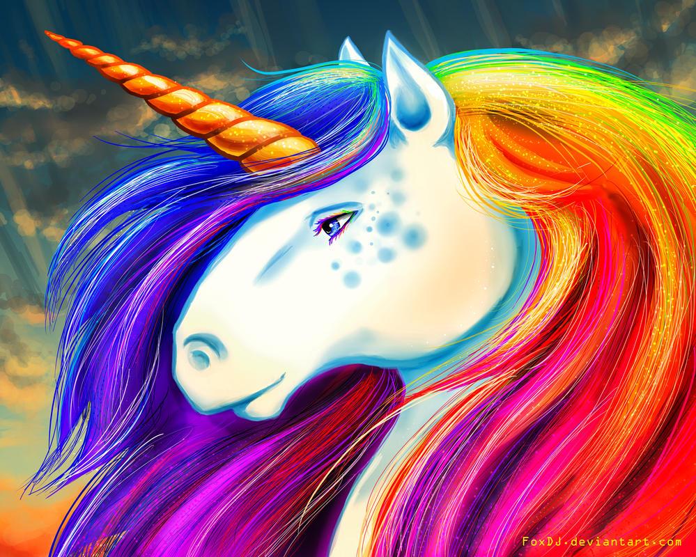 Rainbow Unicorn by FoxDJ on DeviantArt
