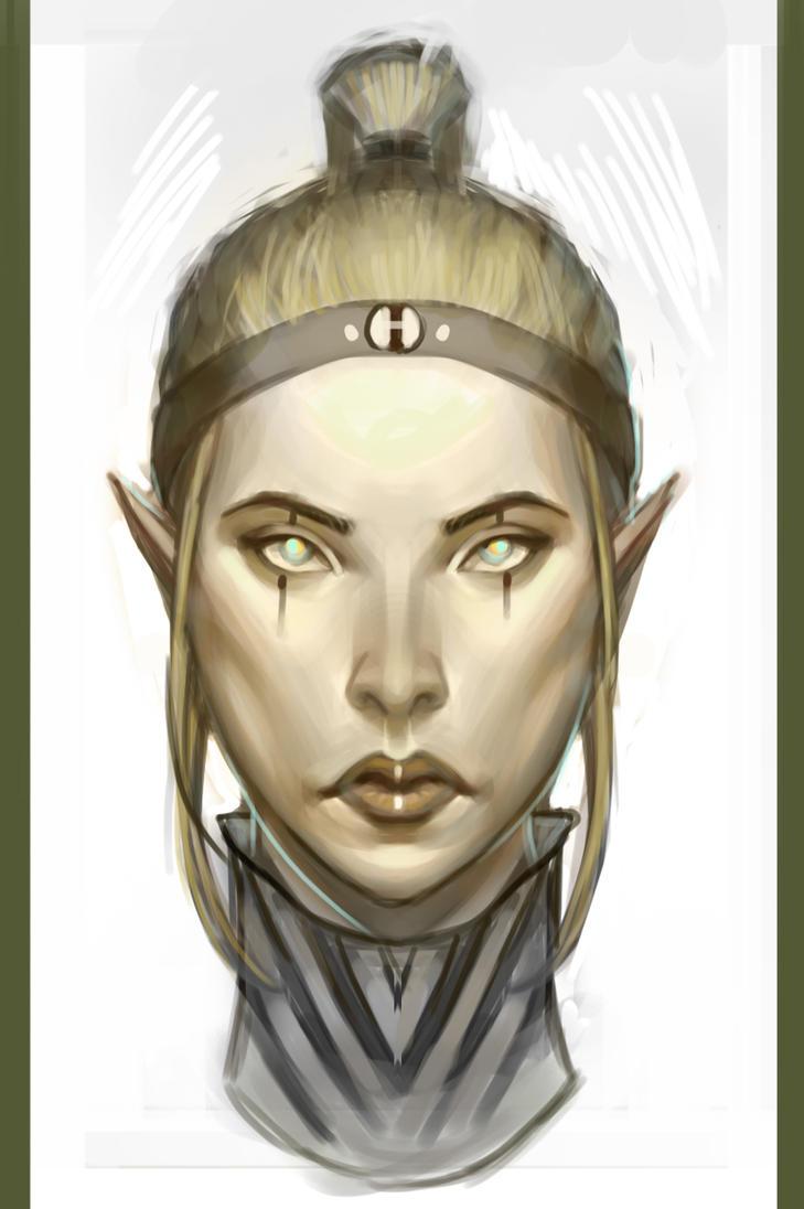 Elf Woman by Rabbit-Seeker