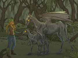 Luna Making Friends by Larkie-Star