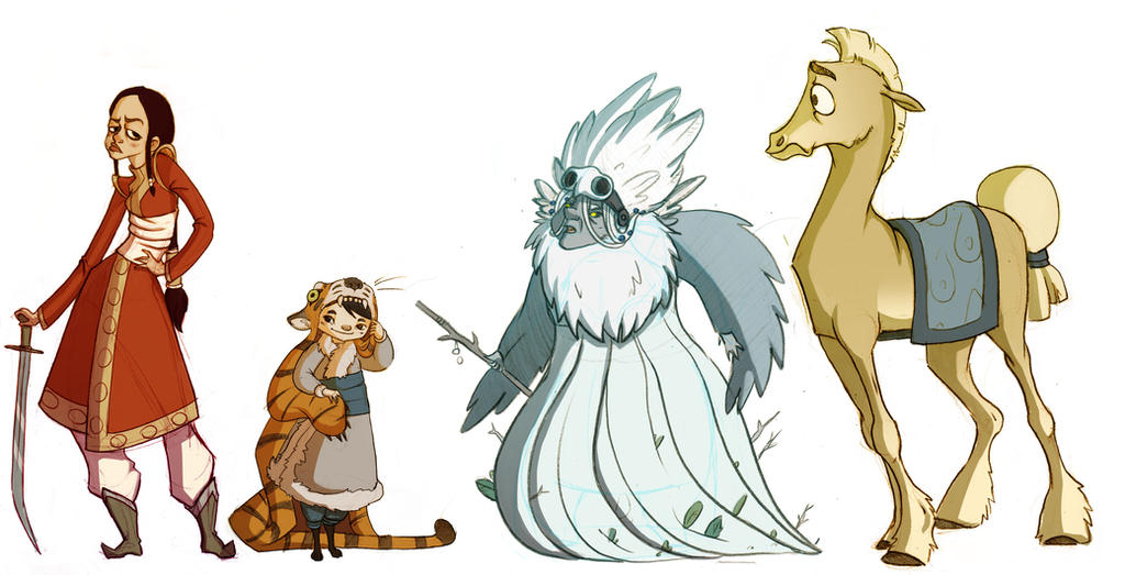 Character Design Lineup : Mongolian character lineup by larkie star on deviantart